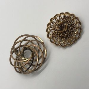 Set of 2 Vintage Brooches